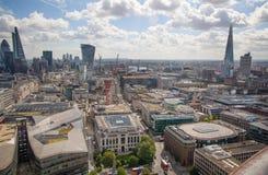 Opinión de Londres La ciudad de Londres uno de los centros principales de la opinión global de finance Imagen de archivo libre de regalías