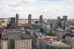 Opinión de Londres La ciudad de Londres uno de los centros principales de la opinión global de finance Fotografía de archivo libre de regalías