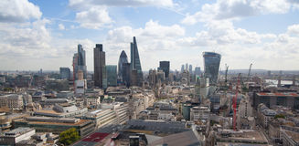 Opinión de Londres La ciudad de Londres uno de los centros principales de la opinión global de finance Fotos de archivo libres de regalías