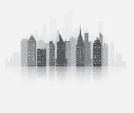 Opinión de los rascacielos de la ciudad libre illustration