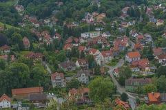 Opinión de los tejados Imagen de archivo