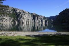 Opinión de Lysefjorden Imagen de archivo