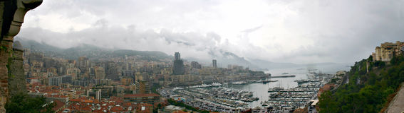 Opinión de Mónaco Foto de archivo