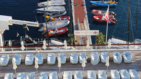 Opinión de Mónaco del club náutico Fotografía de archivo libre de regalías