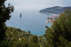 Opinión de Mónaco sobre el mar Imagenes de archivo