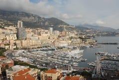 Opinión de Mónaco y de Monte Carlo Fotografía de archivo