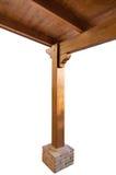 Opinión de madera de tejado de pórtico desde adentro Fotografía de archivo