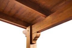 Opinión de madera de tejado de pórtico desde adentro Fotografía de archivo libre de regalías