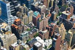Opinión de Manhattan Foto de archivo