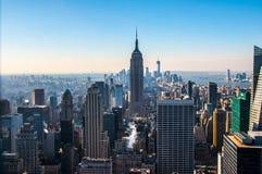 Opinión de Manhattan del sur Imagen de archivo libre de regalías