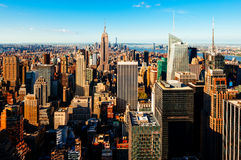 Opinión de Manhattan del tejado Foto de archivo libre de regalías