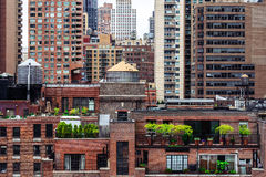 Opinión de Manhattan del tejado Imagen de archivo libre de regalías