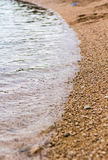 Opinión de mar adriático en Rovinj, destino turístico popular de la costa croata Fotografía de archivo libre de regalías