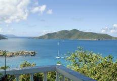 Opinión de mar del Caribe de British Virgin Islands foto de archivo libre de regalías