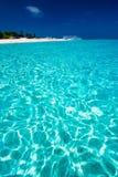 Opinión de mar del Caribe en paraíso Imagenes de archivo