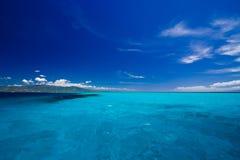 Opinión de mar del Caribe en paraíso Foto de archivo libre de regalías