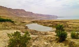 Opinión de mar muerto Fotos de archivo