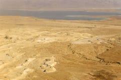 Opinión de Masada, el lugar más inferior de mar muerto en la tierra. Imagenes de archivo