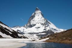 Opinión de Matterhorn Imágenes de archivo libres de regalías