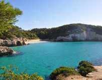 Opinión de Menorca Balearic Island Imagen de archivo libre de regalías