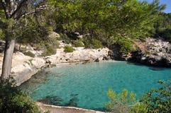 Opinión de Menorca Balearic Island Fotos de archivo