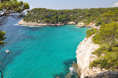 Opinión de Menorca Balearic Island Foto de archivo