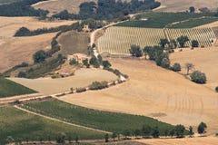 Opinión de Montalcino Fotos de archivo