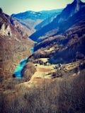 Opinión de Montenegro, río de Tara fotografía de archivo
