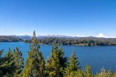 Opinión de Moreno Lake en Circuito Chico - Bariloche, Patagonia, la Argentina fotos de archivo libres de regalías