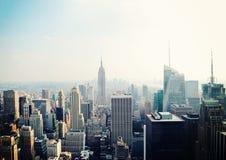 Opinión de New York City con el Empire State fotografía de archivo
