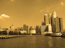 Opinión de New York City del barco fotografía de archivo