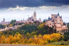 Opinión de noviembre de Segovia imagen de archivo