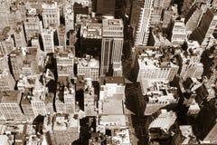Opinión de Nueva York de arriba foto de archivo