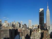 Opinión de NYC de los edificios del estado y de Chrysler del imperio Imagen de archivo