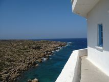 Opinión de océano en Grecia imágenes de archivo libres de regalías