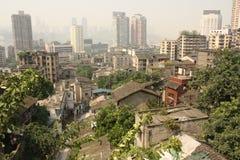 Opinión de ojo de pájaro de Chongqing, China Fotografía de archivo libre de regalías