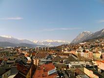 Opinión de ojo de pájaro de Innsbruck Fotos de archivo libres de regalías