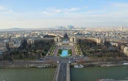 Opinión de ojo de pájaro de París fotografía de archivo