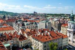 Opinión de ojo de pájaro de Praga Imágenes de archivo libres de regalías