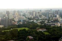 Opinión de ojo de pájaro de Singapur Imagenes de archivo