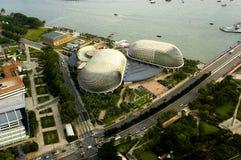 Opinión de ojo de pájaro de Singapur Foto de archivo