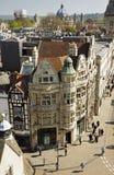 Opinión de ojo de pájaros de la ciudad de Oxford en Inglaterra Fotografía de archivo