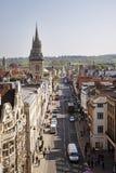 Opinión de ojo de pájaros de la ciudad de Oxford en Inglaterra Foto de archivo libre de regalías