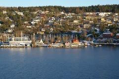 Opinión de Oslofjord Imagenes de archivo