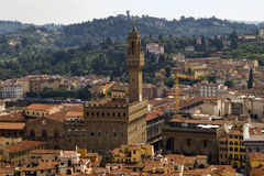 Opinión de Palazzo Vecchio Florencia Imagen de archivo libre de regalías
