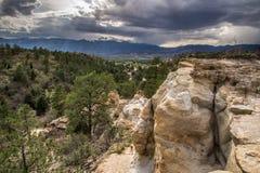 Opinión de Palmer Park de los lucios Colorado Springs máximo Fotos de archivo