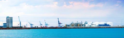 Opinión de Panaramic de Puerto de Castellon Fotos de archivo