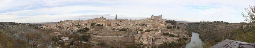 Opinión de Panaramic de Toledo, España Fotografía de archivo libre de regalías