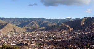 Opinión de Panoramatic de Cusco, Perú Foto de archivo