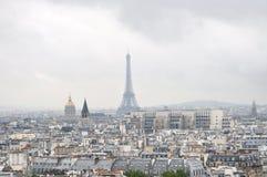Opinión de París imagenes de archivo